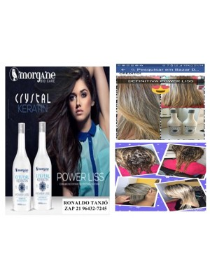 kit escova power liss cristal keratin